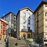 Mallona台阶在毕尔巴鄂,西班牙 免版税库存照片