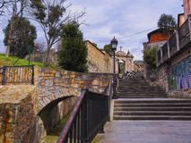Mallona Gate and Stairs in Bilbao Stock Photography
