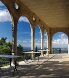 mallorca俯视的露台 库存图片