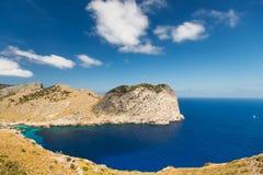 Mallorca海岸的盐水湖  免版税库存图片