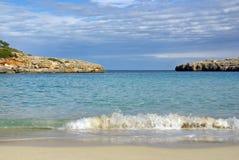 海滩mallorca 库存图片
