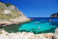 Mallorca. Beautiful beach on the island mallorca royalty free stock images