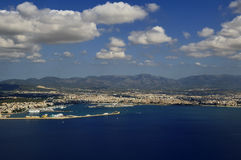 Mallorca aerial. Aerial shot taken over Mallorca, one of the Balearic islands Royalty Free Stock Photography