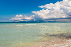Mallorca Alcudia beach. The beautiful Alcudia beach in summer - Mallorca (Majorca) island Stock Photo