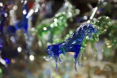 Mallorca. Algaida Es Pla, Majorca / Spain - August 25, 2016: A colorful horse created at handmade glass manufacturing factory Guardiola, Algaida Es Pla, Mallorca stock photos