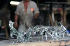 Mallorca. Algaida Es Pla, Majorca / Spain - August 25, 2016: Glass animals created at handmade glass manufacturing factory Guardiola, Algaida Es Pla, Mallorca royalty free stock photography