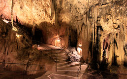 Mallorca - Arta caves. Arta caves (Cuevas de Arta) in the north east of Mallorca are a fascinating network of underground caverns, whose weird stalactites and Stock Photos