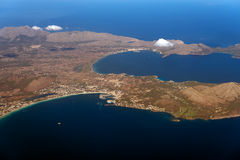 Mallorca, Balearic islands. Aerial view of Port de Alcudia, Mallorca, Balearic islands Stock Image