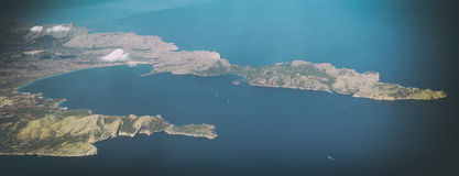 Mallorca, Balearic islands. Aerial view of Port de Alcudia, Mallorca, Balearic islands Stock Images