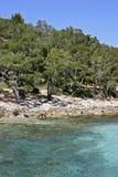 Mallorca, Balearic Islands, Spain. Beach at Formentor, Mallorca, Balearic Islands, Spain, Europe Stock Photography