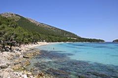 Mallorca, Balearic Islands, Spain. Beach at Formentor, Mallorca, Balearic Islands, Spain, Europe Royalty Free Stock Photos