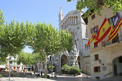 Mallorca, Balearic Islands, Spain. Church of Sant Bartomeu and Town Hall in Soller, Mallorca, Balearic Islands, Spain, Europe Royalty Free Stock Photos