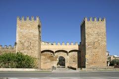 Mallorca, Balearic Islands, Spain. City gate and city walls of Alcudia, Mallorca, Balearic Islands, Spain, Europe Stock Photo