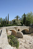Mallorca, Balearic Islands, Spain. Historical Roman bridge in Pollensa, Mallorca, Balearic Islands, Spain, Europe Royalty Free Stock Image