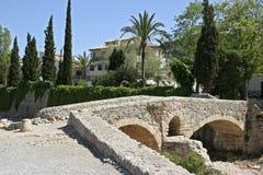 Mallorca, Balearic Islands, Spain. Historical Roman bridge in Pollensa, Mallorca, Balearic Islands, Spain, Europe Stock Photo