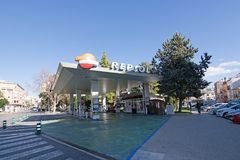Gas station Repsol Stock Photos
