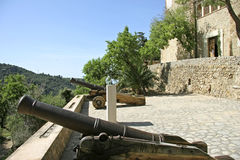Mallorca, Balearic Islands, Spain. Old Cannon in the Artist village Deià, Mallorca, Balearic Islands, Spain, Europe Royalty Free Stock Photo