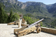 Mallorca, Balearic Islands, Spain. Old Cannon in the Artist village Deià, Mallorca, Balearic Islands, Spain, Europe Royalty Free Stock Photos