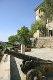 Mallorca, Balearic Islands, Spain. Old Cannon in the Artist village Deià, Mallorca, Balearic Islands, Spain, Europe Stock Photos