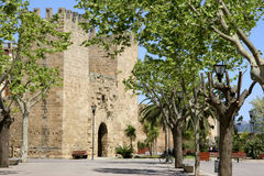 Mallorca, Balearic Islands, Spain. Town gate Porta de Xara in Alcudia, Mallorca, Balearic Islands, Spain, Europe Royalty Free Stock Photos