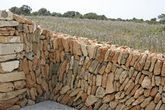 Mallorca, Balearic Islands, Spain. Typical stone wall at Manacor, Mallorca, Balearic Islands, Spain, Europe Royalty Free Stock Photos