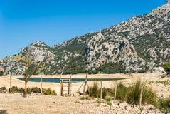 Mallorca, Balearic wyspy: gorga Blau rezerwuar Fotografia Stock