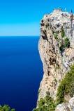 Mallorca, Balearic wyspy: Nakrętka De Formentor widzieć od Mirador C Zdjęcie Stock