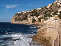 Mallorca beach. View of the beach with its cliffs of Mallorca Stock Photo