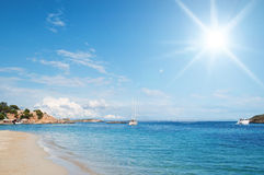 Mallorca beach. Clear waters and sun on Mallorca (Majorca) beach Royalty Free Stock Images