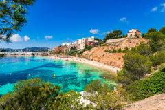 Mallorca beach Puerto Portals Nous Royalty Free Stock Photo