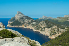 Mallorca bucht and the mountains. Mallorca bucht, the mountains, blue sea Royalty Free Stock Photos