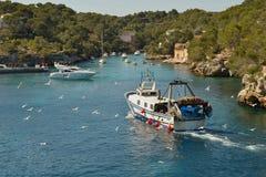 Mallorca, Cala Figuera. Mallorca, Spain. Mallorcais island. Fisherman village Cala Figuera in Mallorca, Spain Stock Images