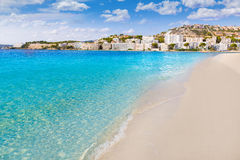 Mallorca Cala Santa Ponsa Ponca beach in Majorca Stock Photography