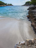 Mallorca Cala Serena. Inside Cala Serena in Mallorca Baleares Spain Royalty Free Stock Images