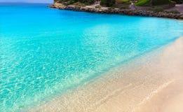 Mallorca Cala Vinyes Vinas beach Calvia Mallorca. Mallorca Cala Vinyes Vinas beach in Calvia Mallorca at Balearic islands of spain Stock Images