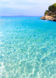Mallorca Cala Vinyes Vinas beach Calvia Mallorca. Mallorca Cala Vinyes Vinas beach in Calvia Mallorca at Balearic islands of spain Royalty Free Stock Images