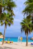 Mallorca Cala Vinyes Vinas beach Calvia Mallorca. Mallorca Cala Vinyes Vinas beach in Calvia Mallorca at Balearic islands of spain Royalty Free Stock Photo