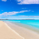 Mallorca Can Picafort beach in alcudia bay Majorca Royalty Free Stock Photos
