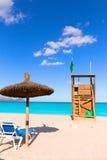 Mallorca Can Picafort beach in alcudia bay Majorca Royalty Free Stock Photo