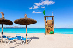 Mallorca Can Picafort beach in alcudia bay Majorca. Mallorca Can Picafort beach in alcudia bay at Majorca Balearic islands of Spain Royalty Free Stock Image