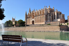 Mallorca Cathedral. View of Cathedral Le Seu, Palma de Mallorca, Spain Royalty Free Stock Images