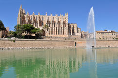 Mallorca Cathedral. View of Cathedral Le Seu, Palma de Mallorca, Spain Royalty Free Stock Photography