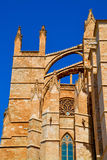 Mallorca cathedral. Beautiful Cathedral designed in the French Gothic style, Palma de Mallorca, Spain Royalty Free Stock Images