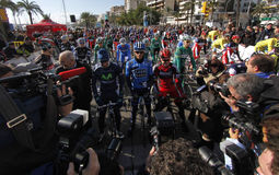 Mallorca challenge cycling race startup Royalty Free Stock Images