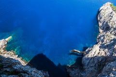 Mallorca Cliff Jumper royaltyfria bilder