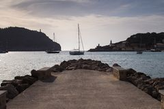 Mallorca coast. Mallorca north coast, Port of Soller Royalty Free Stock Photography