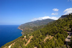 Mallorca coast. North coast view of Mallorca island, Spain Royalty Free Stock Images