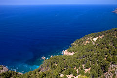 Mallorca coast. North coast view of Mallorca island, Spain Royalty Free Stock Photography