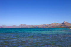 Mallorca coast. North coast view of Mallorca island, Spain Stock Photos