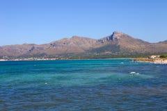 Mallorca coast. North coast view of Mallorca island, Spain Stock Images